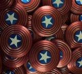 Metaal Kapitein America Fidget Spinner