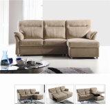 Sofá de la sala de estar con el sofá moderno del cuero genuino fijado (722)