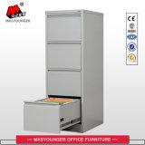Meuble d'archivage en acier de tiroir de la verticale 4 d'utilisation de bureau avec la barre de bride de fixation