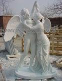 Steinstatue-schnitzender Skulptur-Marmorengel für Garten-Dekoration (SY-X1718)