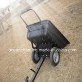 De Dumpende Aanhangwagen van de tuin ATV met Plastic Doos