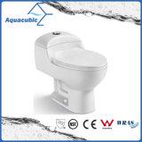 Siphonic d'une seule pièce conjuguent la toilette en céramique affleurante (ACT5825)