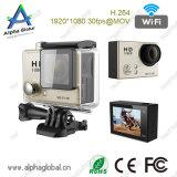 câmera manual cheia do esporte da ação do esporte DV 1080P WiFi 2.0 da '' polegada impermeável HD de 30m mini