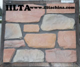 문화 돌담 클래딩 인공적인 돌 단단한 지상 돌
