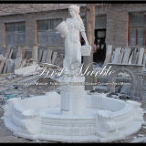 Fontein van het Beeldhouwwerk van Carrara van de hoogste Kwaliteit de Witte voor Meubilair mf-612 van de Tuin