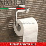Sostenedor de papel higiénico de cobre amarillo de la placa del cromo de los accesorios de la percha