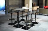 Uispair modernes 100% rundes Stahlbüro-lebender Esszimmer-Schlafzimmer-Gaststätte-Hauptkaffeetisch