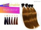 Brasilianisches Jungfrau-Haar-Farbebrown-Menschenhaar-Webart-Glücks-Haar 100%