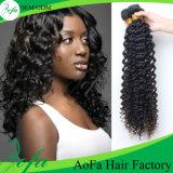 cheveu humain de Vierge d'onde profonde brésilienne du prix usine 7A 100%