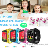 Big Colorful Touch Screen 1.44 '' Suivi de montre GPS pour enfants (Y9)