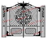 熱い浸された金属の庭ゲート
