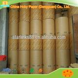 Brown et papier d'emballage blanc pour l'impression et l'empaquetage