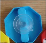 Plástico impermeabilizar el temporizador de la arena de la ducha de cinco minutos con el casquillo de la succión