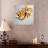 Fleur décorative orange sur la peinture à l'huile