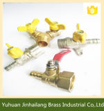 Aluminum Butterfly HandleのY Type Brass Nature Gas Valve