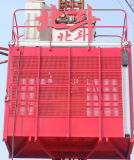 Única grua usada do elevador do material de construção da gaiola para edifícios elevados da ascensão