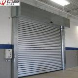 Изолированные быстро стального металла звукоизоляционные свертывают вверх дверь обеспеченностью