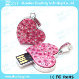 심혼 모양 보석 USB 섬광 드라이브 (ZYF1115)
