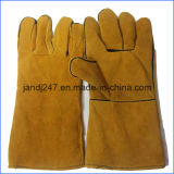 Разленная коровой кожаный перчатка заварки в поставщике Гуанчжоу