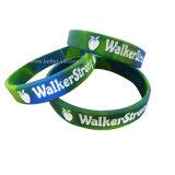 Grabado pulseras de silicona para los artículos de promoción