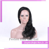 Parrucche piene fatte a macchina dei capelli umani della Malesia del merletto