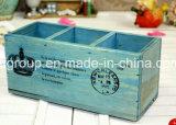 Cadre en bois solide avec le guichet clair et la boîte en bois à thé de 12 compartiments