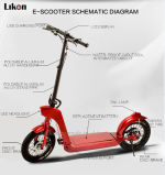 O CE o mais atrasado Certificated 500W, 48V, 10.8ah Electric Scooter com Detachable Battery, Bluetooth Speakers e banco de Power para Mobile Phone, até 45km/H Speed.