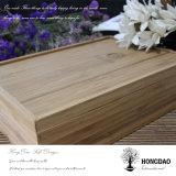Rectángulo de madera de bambú de Hongdao con el divisor y el bloqueo