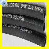 Erstklassige hochfester Stahl-Faser-umsponnener hydraulischer Schlauch SAE 100 R6 der Qualitätseine