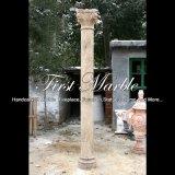 De antieke Holle Kolom van de Travertijn voor Decoratie mcol-312 van het Huis