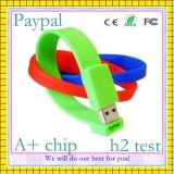 Wristband relativo à promoção do USB do silicone do presente (GC-S009)