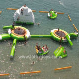 Inflatable Waterpark: Water Park with Different Toys Combination.