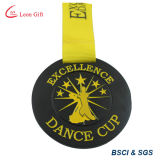 Medalla de oro modificada para requisitos particulares del emparejamiento de la yoga de la insignia 3D para el ganador