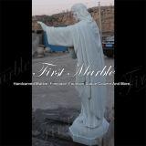 Мраморный каменная статуя Ms-1018 Metrix Carrara Иисус статуи гранита