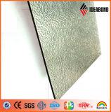 panneau composé en aluminium enduit d'une première couche de peinture par PE/PVDF gravant en relief de 4ft*8ft (couleur facultative)