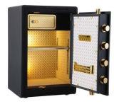 Nueva caja fuerte negra del hogar y de la oficina de la huella digital