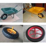 Carrinho de mão de roda da mão para a indústria com roda pneumática (WB6400)