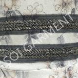 Повелительницы фасонируют сексуальную кофточку печати Knit с застежкой -молнией (BL-41)