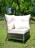Divan réglé de paquet de meubles de PE de sofa en osier extérieur de rotin