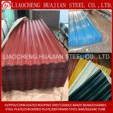 Hojas de acero del material para techos acanalado del material de material para techos