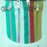 Zipper colorido do metal da venda de 3# 5# para a roupa