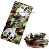 Custom Made Customized Logo Army Green imprimé promotionnel Girl's Seamless Multifunctional Bandana Buff