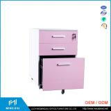 中国の製造業者のオフィス用家具3の引出しの在宅勤務事務所の鋼鉄ファイリングキャビネット