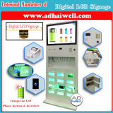"""32 """"Full HD Touch LCD Kiosk Public Free Mobile Phone com Mfi Cable Charging Station"""
