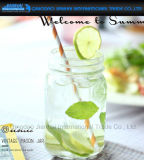 Soem-kalte Getränkemaurer-Glas-Glaswaren mit Silk-Screen