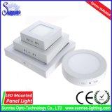 luz del panel de 3W LED/lámpara montadas redondas