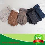 Перчатки овчины мягких неподдельных Merino женщин шерстей/перчатки овчины тумака Knit Mens кожаный управляя