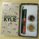 Neueste Heiß-Verkaufenlippenzwischenlage der Kylie Feiertags-Ausgaben-Lippenstift-gesetzte Augenbraue-Gel+Lipstick