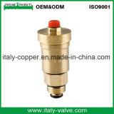Le laiton personnalisé de qualité a modifié le robinet à tournant sphérique d'évent (IC-3037)