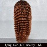 Jungfrau-Haar-tiefe Wellen-Haar-Perücke-Produkt-Spitze-Vorderseite-Perücke des Fabrik-Preis-#4/30 für Verkauf